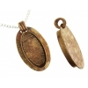Bezel Handmade Pendant Oval 38x19x7mm Antique Brass